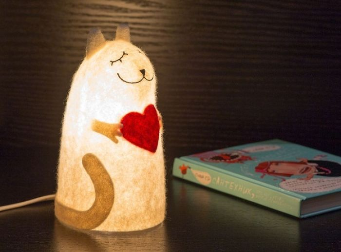 Xenia Creates Animal Felted Night Lights