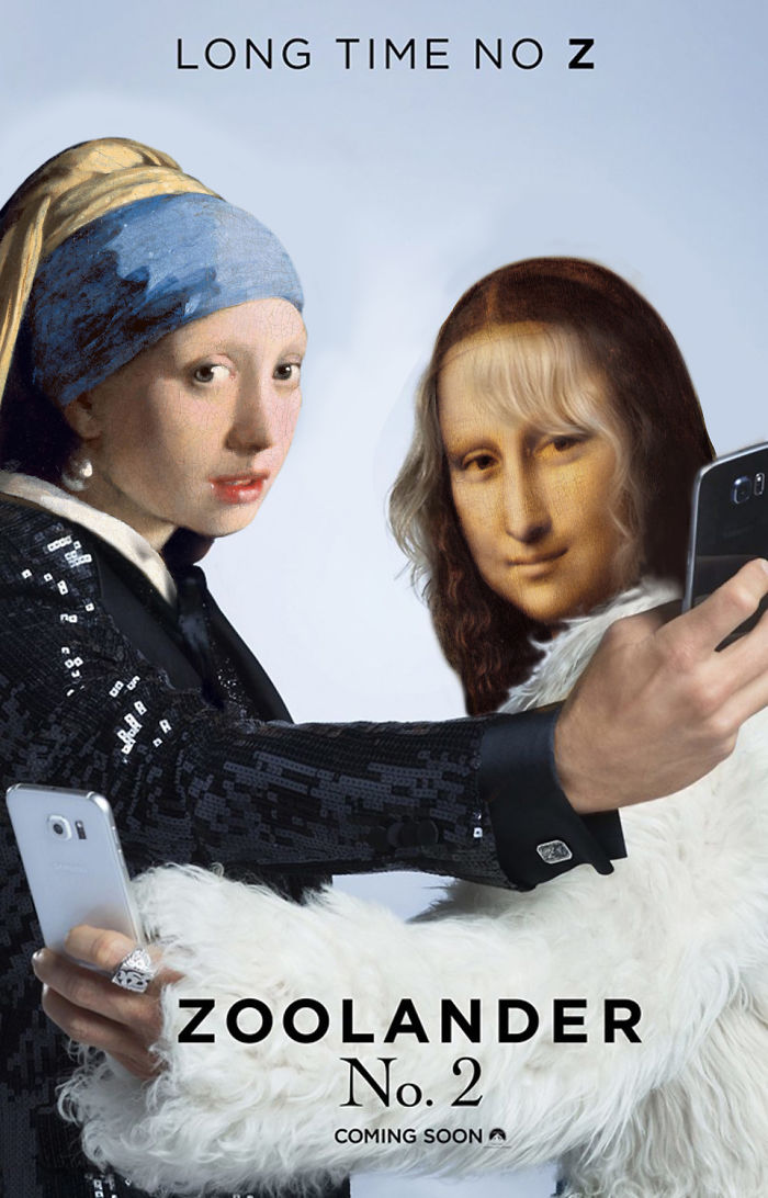 Zoolander 2 Poster Re-designed With Alternative Famous Faces Taking Selfies