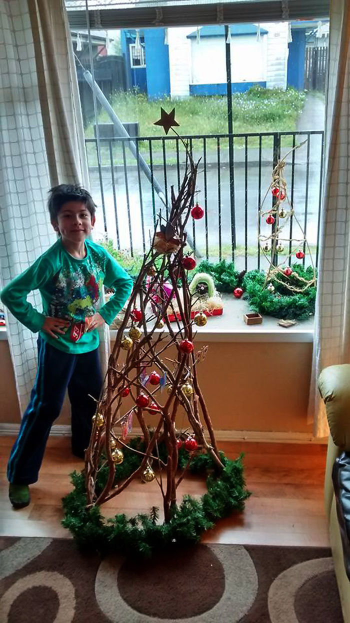 Christmas Tree Made With Branches Of Arrayán (south Arbol Chili)