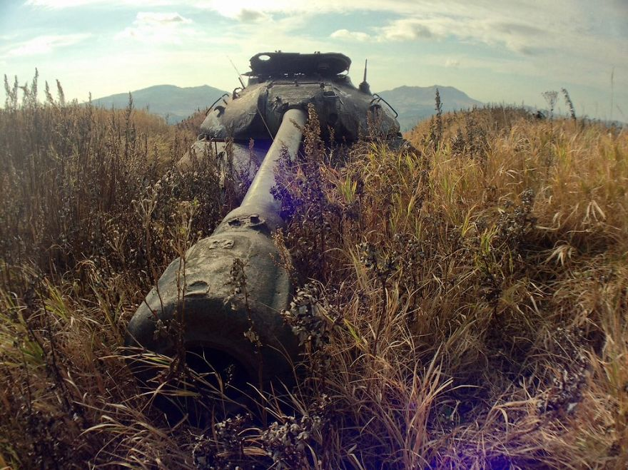 被遗弃的IS3在色丹岛