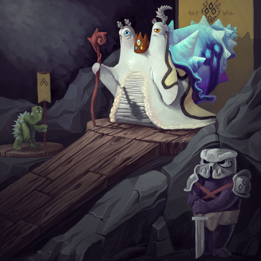 15-Year-Old Artist Creates Entire Monster Universe With His Wacom