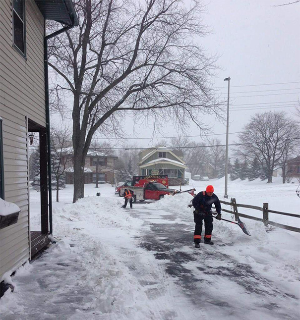 An Elderly Man In My Neighborhood Had A Heart Attack While Shoveling His Driveway. Paramedics Took Him To The Hospital, Then Returned To Finish Shoveling His Driveway For Him
