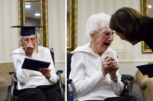97-Year-Old Cries Tears Of Joy After She Finally Gets Her High School Diploma
