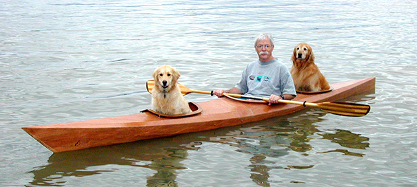 Man Built Custom Kayak So He Could Take His Dogs On Adventures