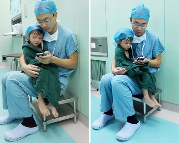 Heart Surgeon Calms Weeping 2-Year-Old Girl Before Heart Operation