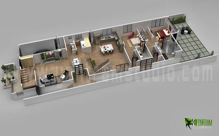 3d Floor Plan Design For Modern Home