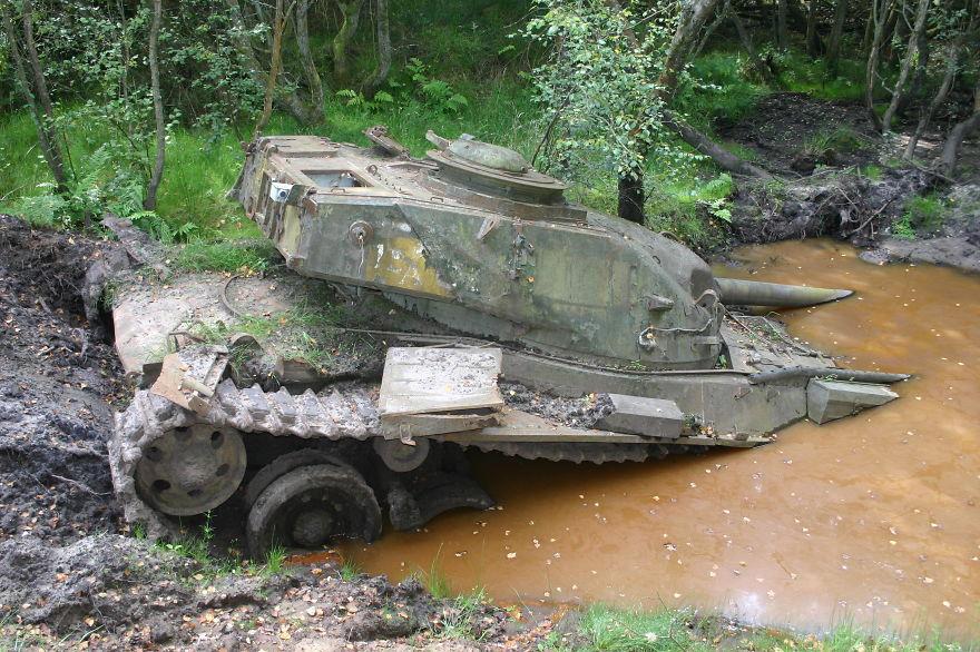 British Army Chieftain, Slab Common, Bordon, Uk
