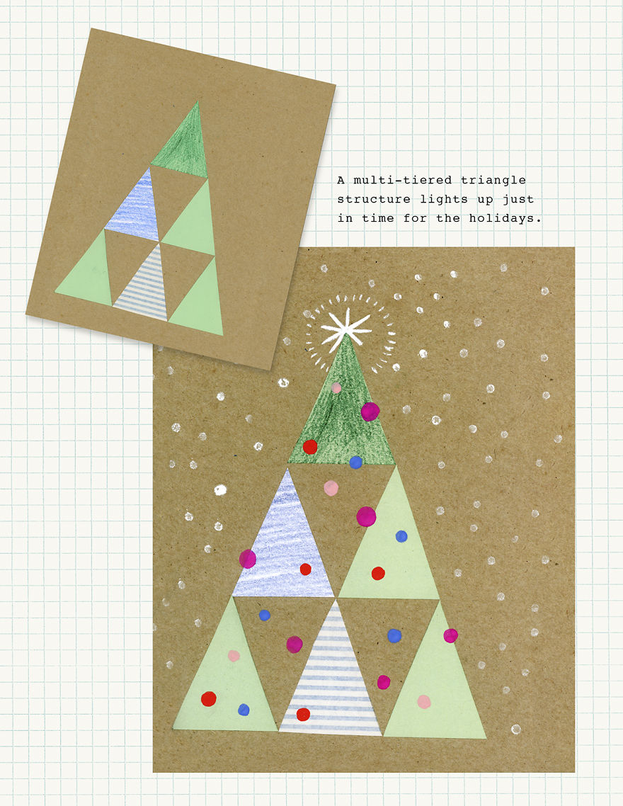 7 holiday things you can draw with a triangle bored panda for Something you can draw