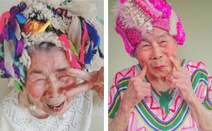 93-Year-Old Grandmother Models Her Granddaughter's Clothes