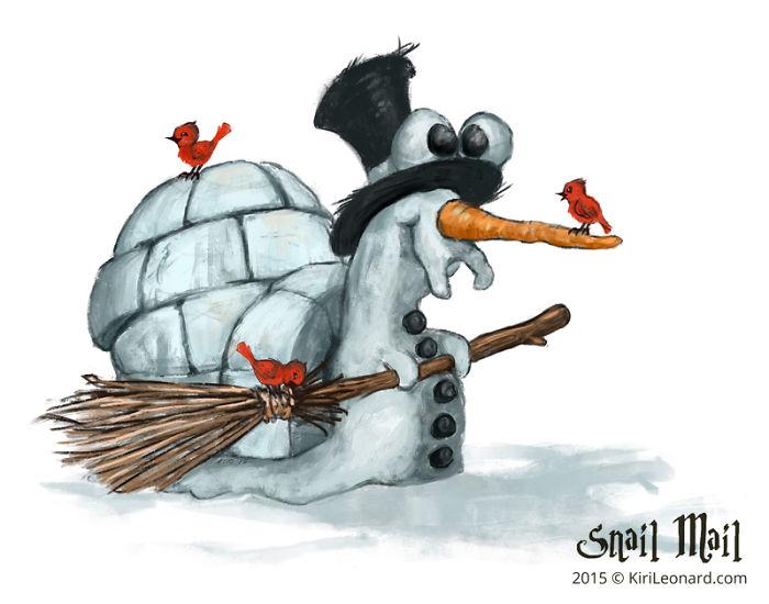Rudolf The Snow Snail