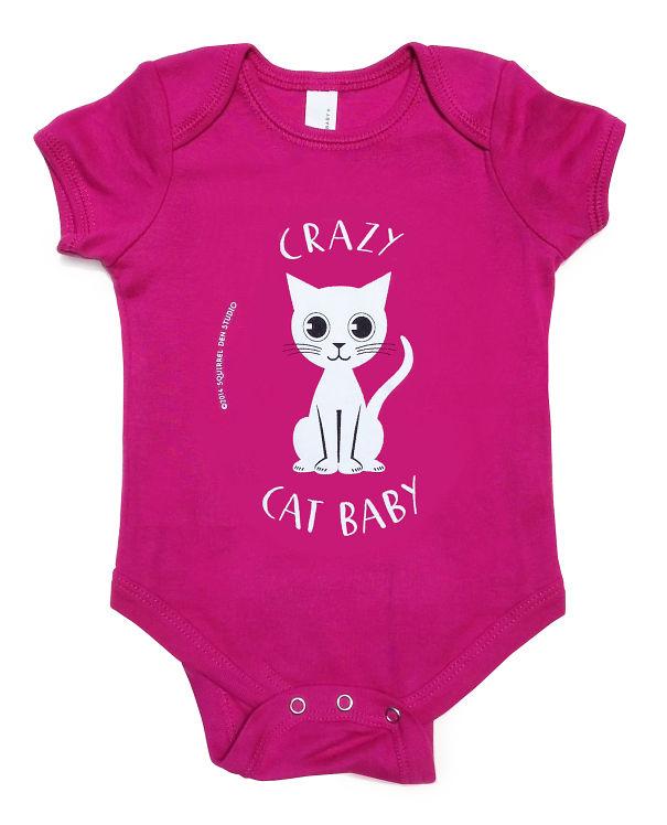 """crazy Cat Baby"" Romper"