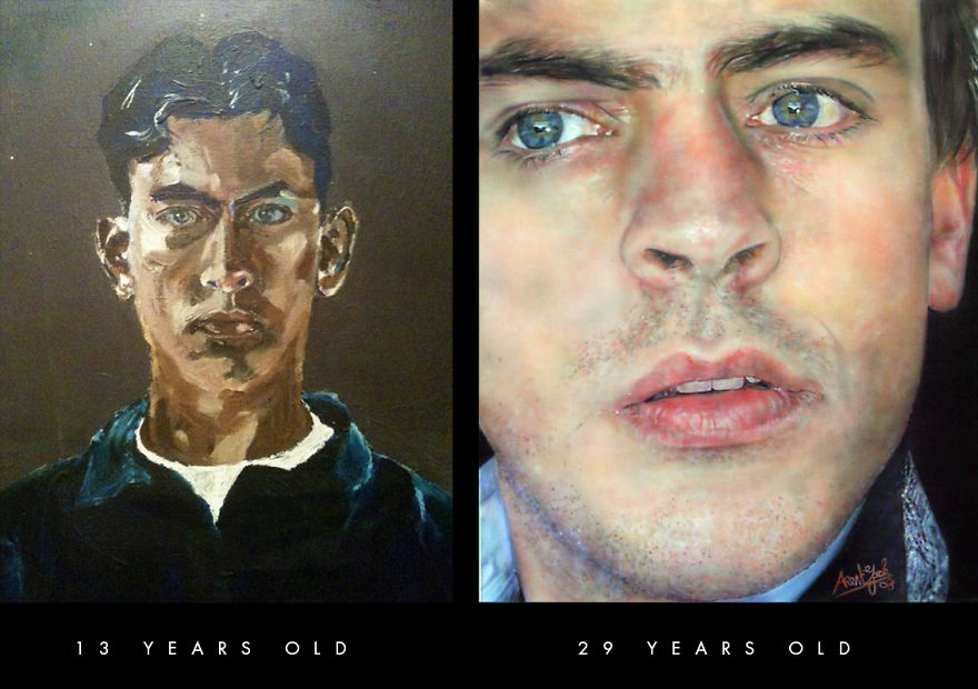 Self Portraits, 16 Years Difference
