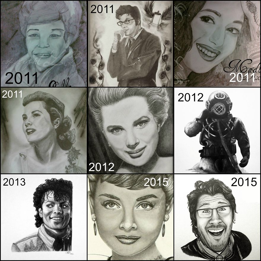 Drawing Progress Over 4 Years :)