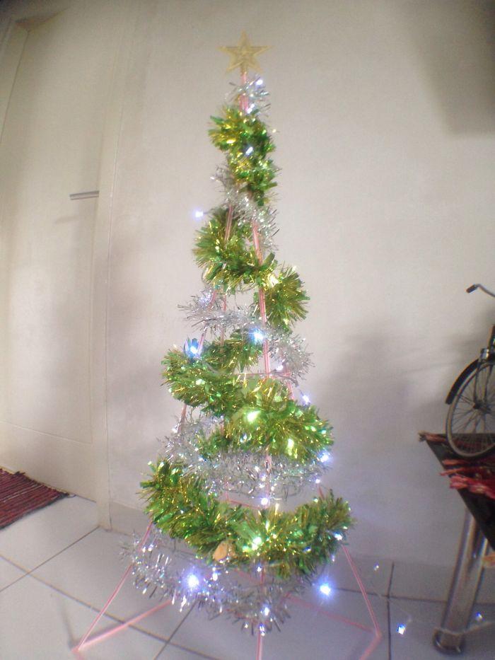 Drinking Straw Christmast Tree