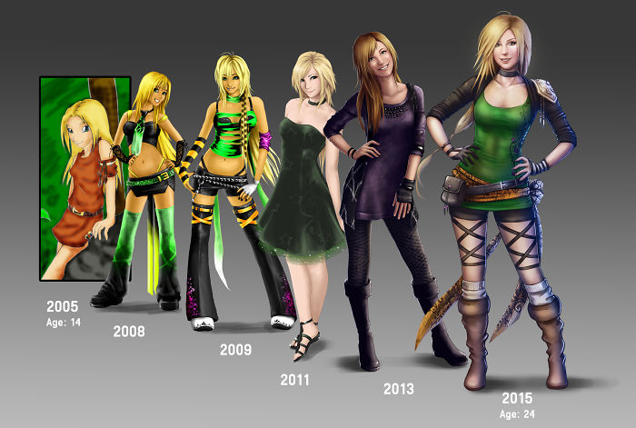 10 Years Of Improvement – Same Character
