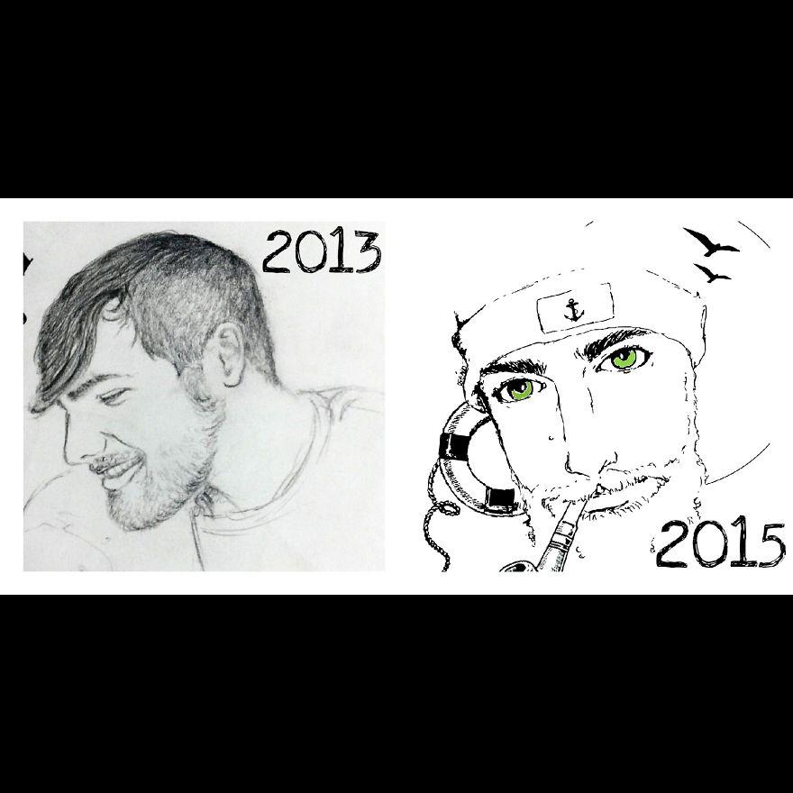 Same Person's Portrait...2 Years Of Progression :)