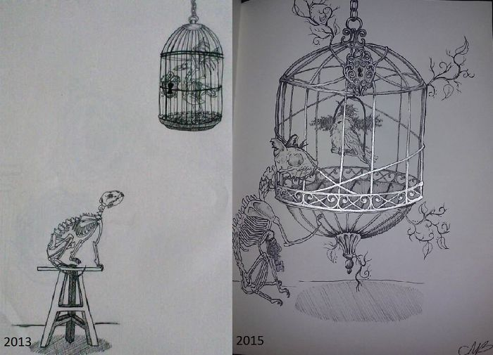 Same Kind Of Concept Separated By 2 Years Of Work!