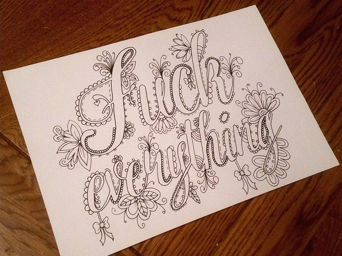 Swear Word Coloring Book Will Help You Stop Swearing And Start Coloring In 2016