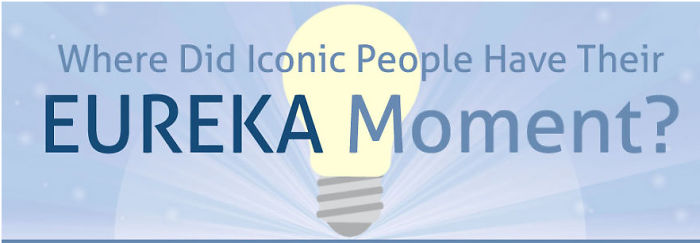 Where Did Iconic People Have Their Eureka Moment?