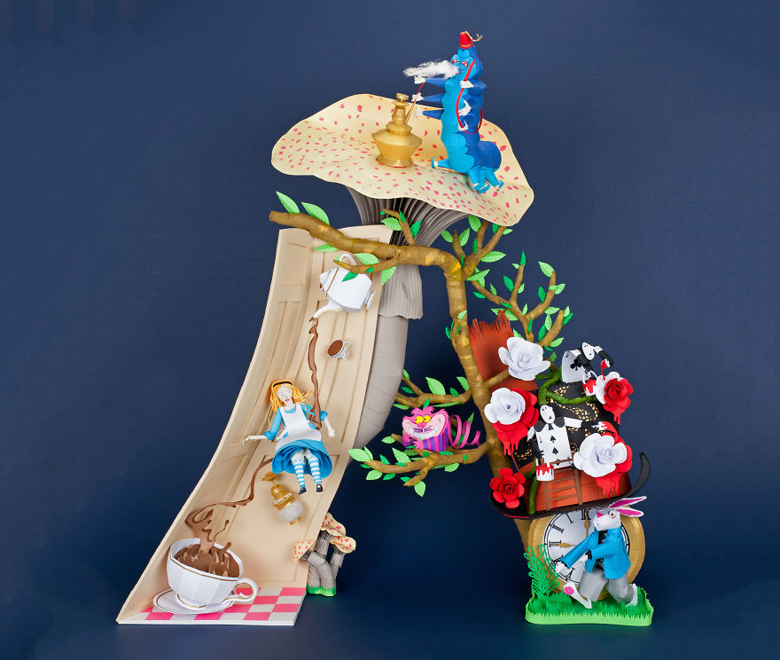 Alice In My Paper Wonderland Form The Letter A