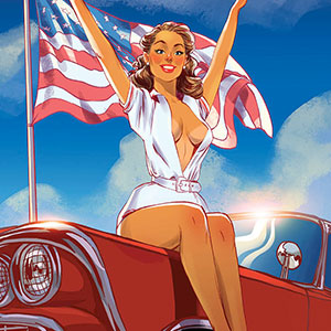 American Pin-Up 2016 Calendar Inspired By The Places I Visited In USA