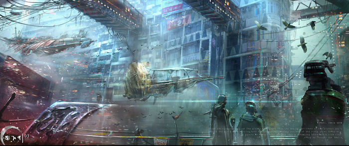 Artist Creates A Terrifying Story And Concept Art For Post Apocalyptic Mumbai In The Year 2098