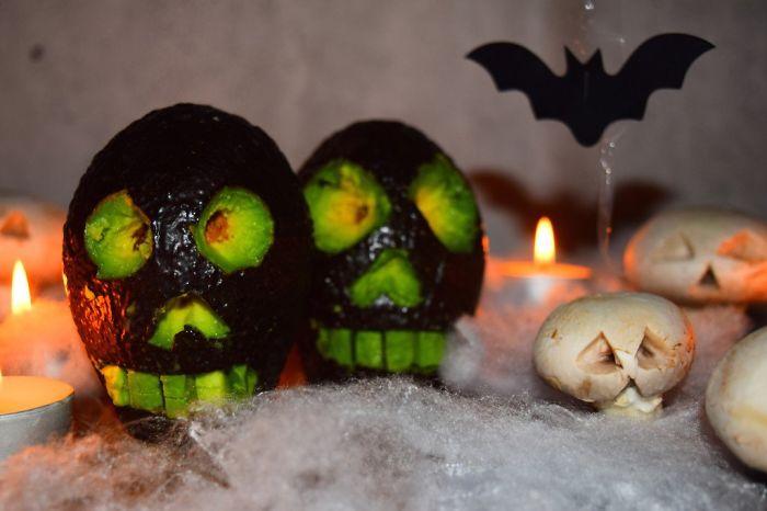 Avocado Skulls & Mushroom Ghosts