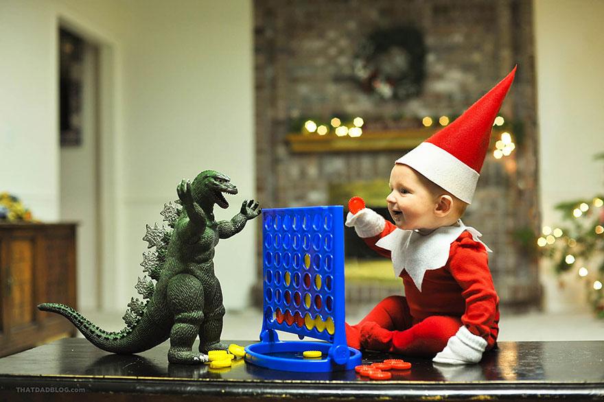 tatal isi deghizeaza fiul in elf 7