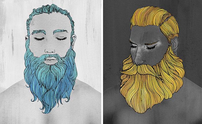 I 'Feminise' Male Beards To Celebrate Gentle Men