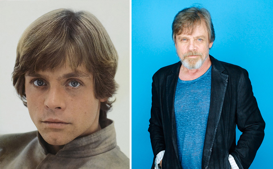 Mark Hamill As Luke Skywalker, 1980 And 2015