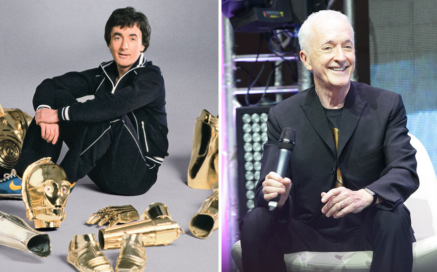 Anthony Daniels As С-3Рo, 1977 And 2015