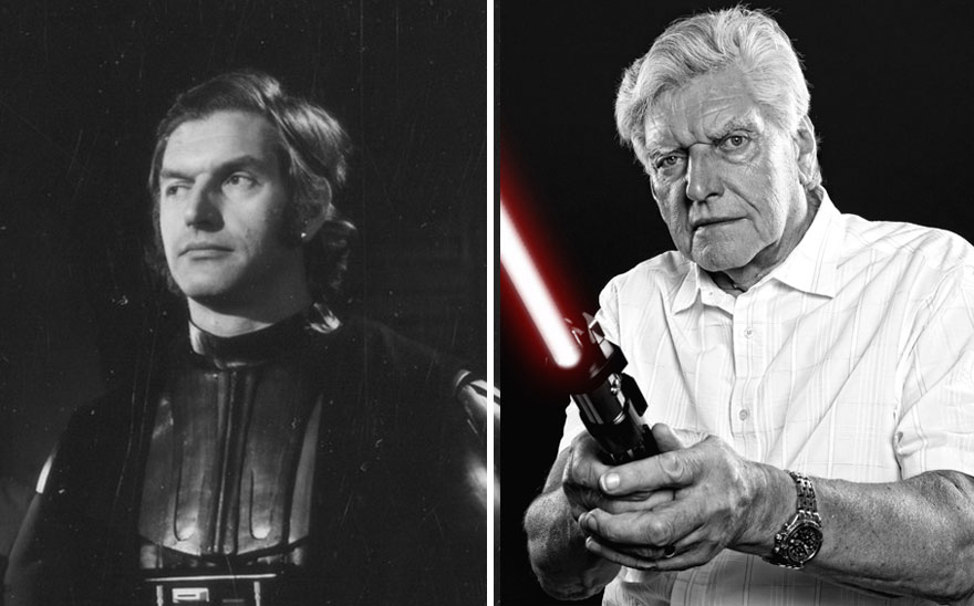 David Prowse As Darth Vader, 1977 And 2015