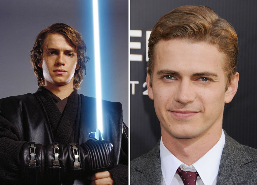 Hayden Christensen As Anakin Skywalker, 2005 And 2015