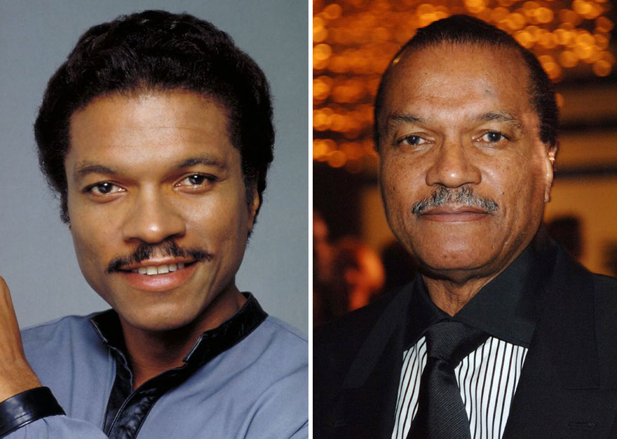 Billy Dee Williams As Lando Calrissian, 1980 And 2014