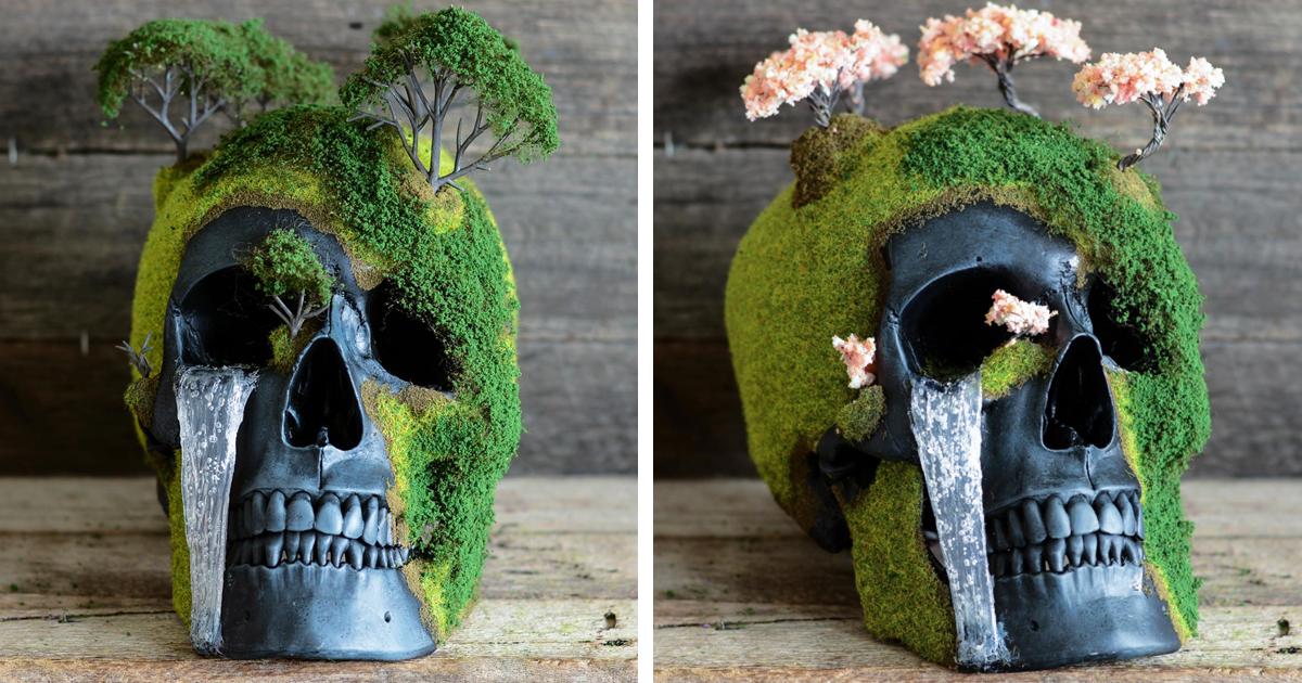 Bonsai Skulls Bring The Dead To Life