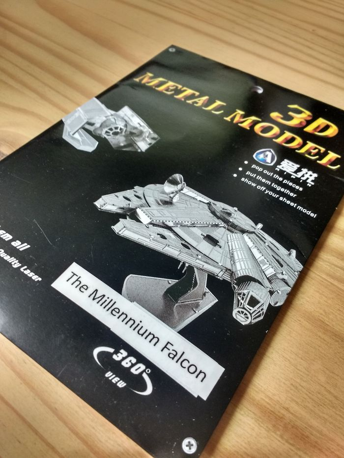 Building Millennium Falcon 3d Metal Model In Pictures