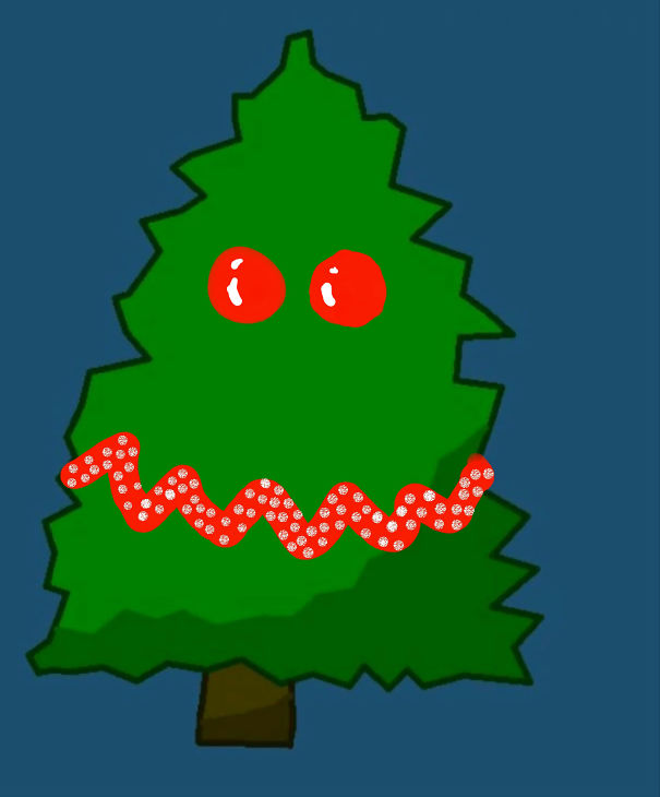 Evil Christmas Tree: Decorate This Christmas Tree That I Made