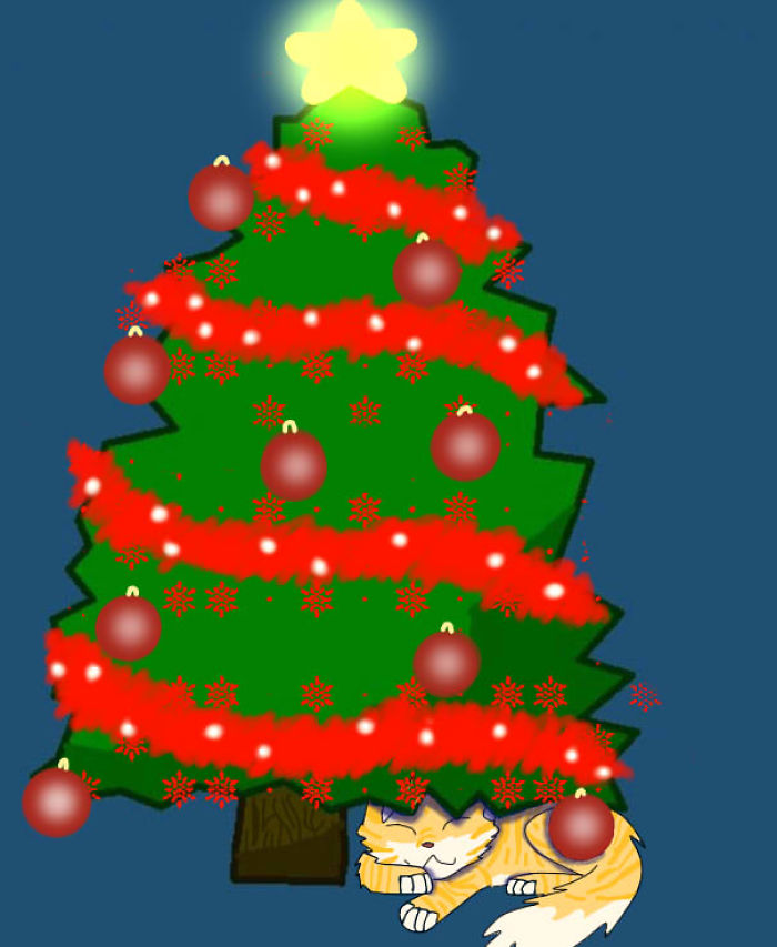 Cat Under The Tree