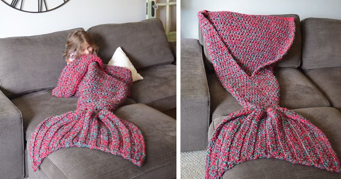Crocheted Mermaid Tail Blankets By Melanie Campbell Bored Panda