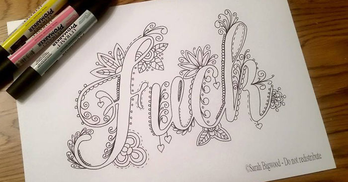 - Swear Word Coloring Book Will Help You Stop Swearing And Start Coloring In  2016 Bored Panda