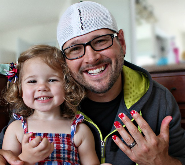 Every Dad Needs To Be A Master At Learning How To Paint Their Little Girl's Nails