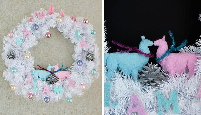 DIY Holiday Wreath: Deck The Halls With Fa La Llamas!
