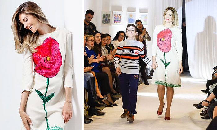 Deaf Pupils' Drawings Turned Into A Beautiful Fashion Collection
