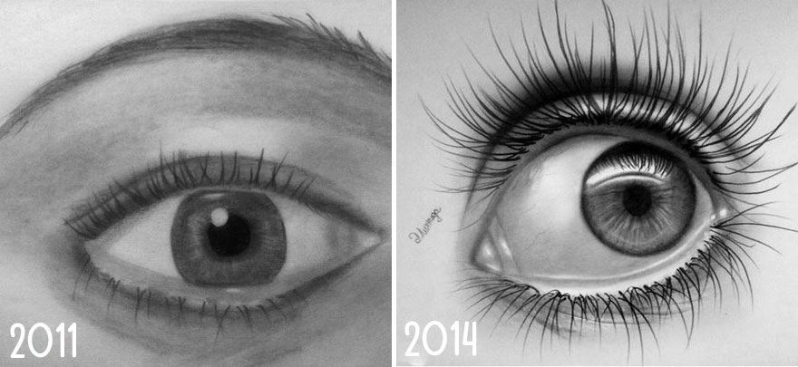 10+ Before And After Drawings Show Practice Makes Perfect | Bored ...