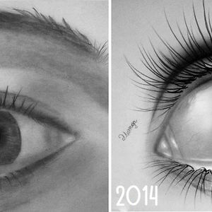 Eye Drawing Progress In 3 Years