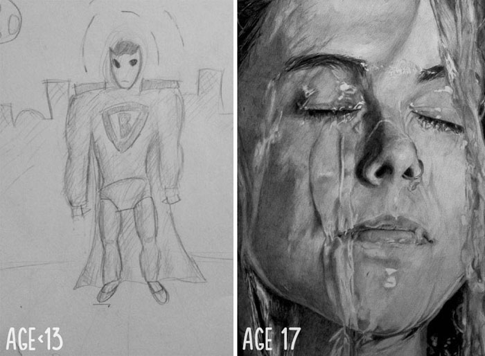 10+ Before And After Drawings Show Practice Makes Perfect
