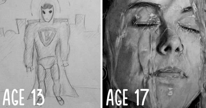 72 Before And After Drawings Show Practice Makes Perfect