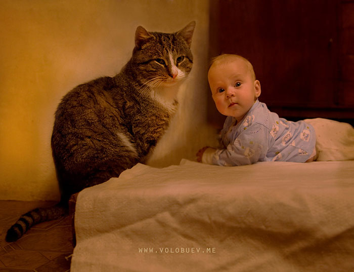 Luisa And Her Cat