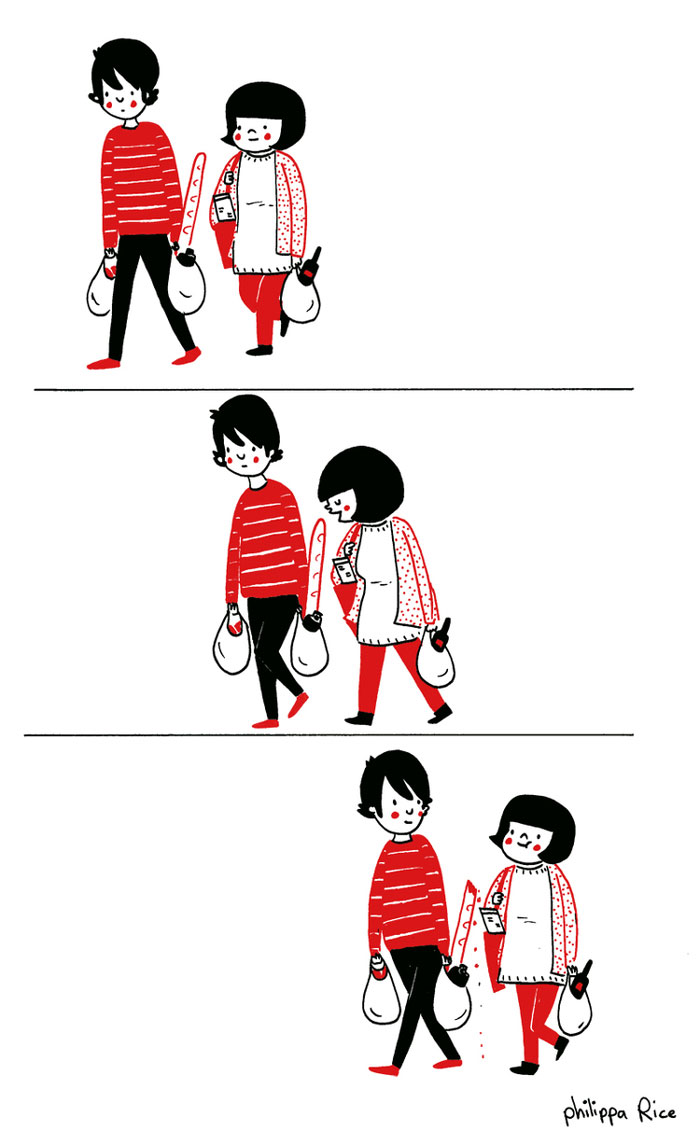 Heartwarming Illustrations Show That Love Is In The Small Things - Husband turns everyday moments with his wife into heartwarming illustrations