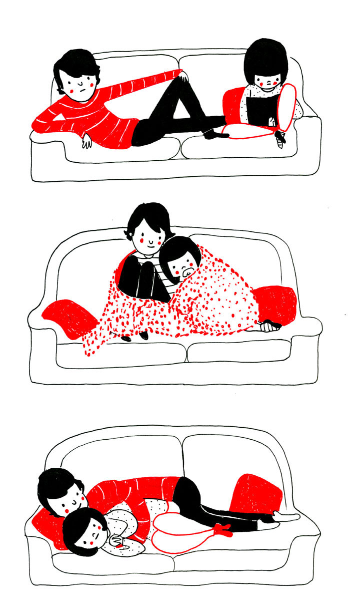 Funny Couple Cartoon Tumblr : Heartwarming Illustrations Show That Love Is In The Small Things ...